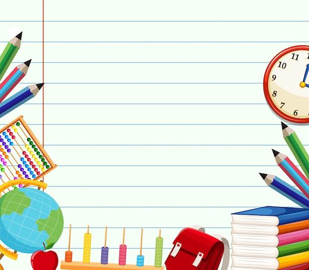 Школьный тематический фон шаблона