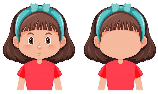 Набор символов брюнетка девушка