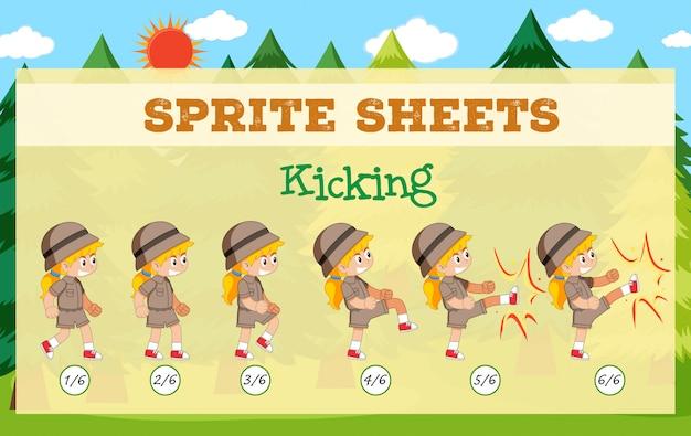 Игровые спрайт листы ногами