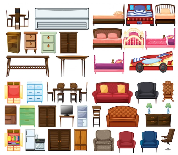 家具オブジェクトのセット