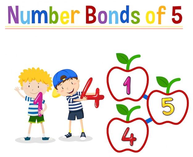 Количество облигаций из пяти