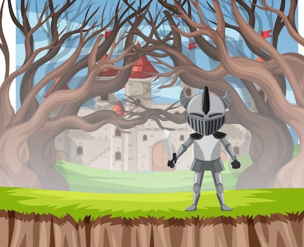 鎧の木のシーンで騎士