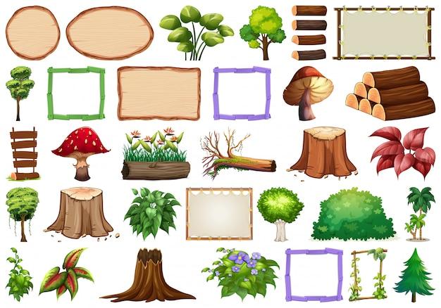 Набор декоративных растений
