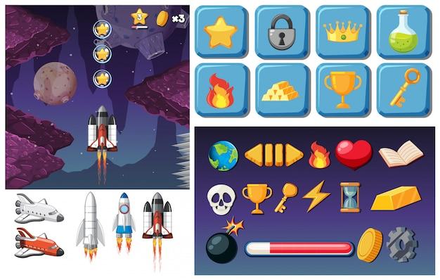Космическая тематическая видеоигра