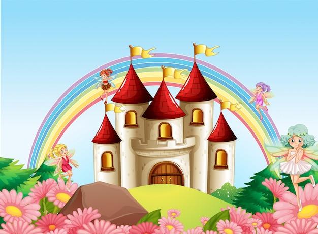 中世の城の妖精