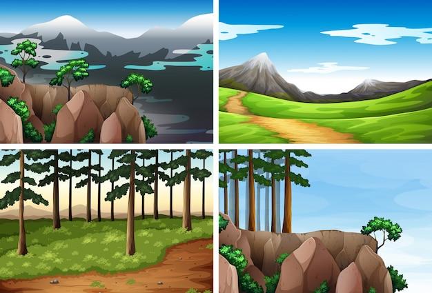 自然の背景のセット