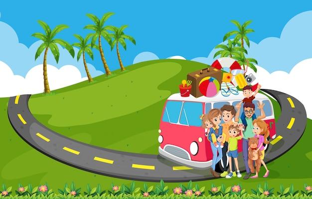 自然への家族旅行
