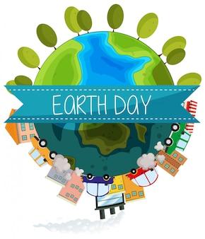 Значок дня земли