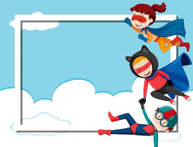 スーパーヒーローボーダーフレーム