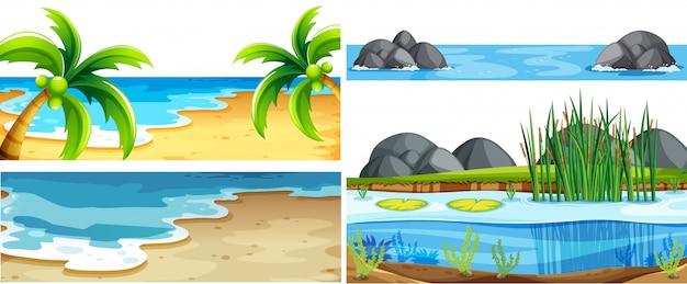 Набор различных природных сцен