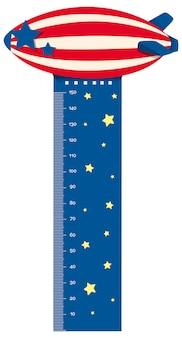 気球飛行で成長測定チャート