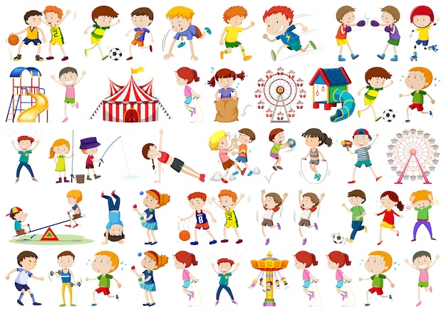子供キャラクターのセット