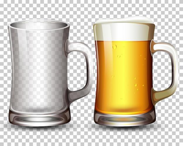 ガラスとビールのセット