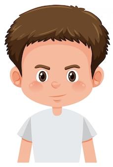 ブルネットの少年キャラクター