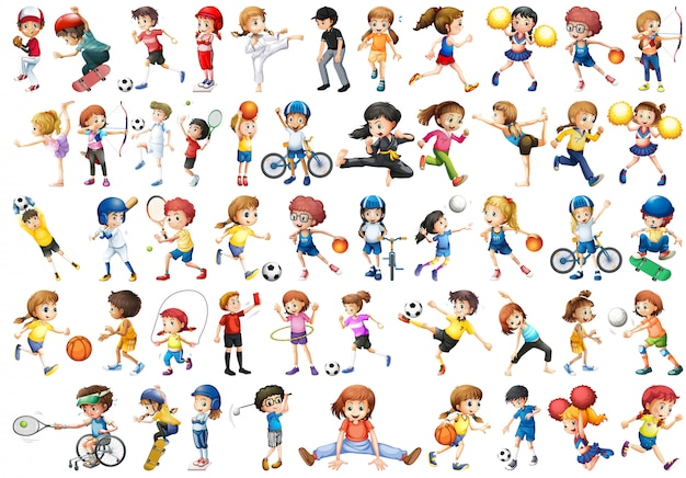 Набор спортивного детского персонажа
