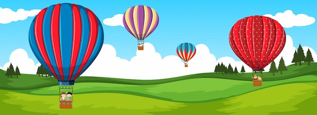熱気球による旅行