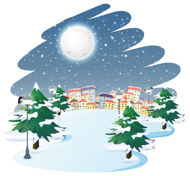 冬の屋外の風景