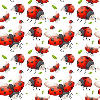 てんとう虫のシームレスパターン