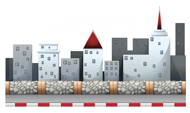 Сцена городского пейзажа здания