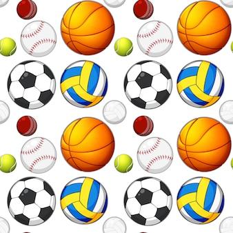 Концепция бесшовные мяч шаблон
