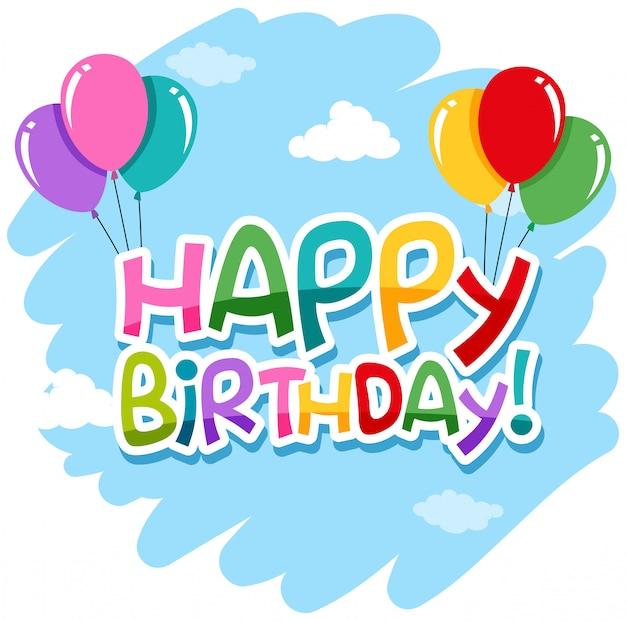 Изолированный с днем рождения значок