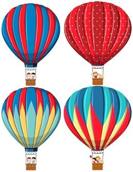 熱気球のセット