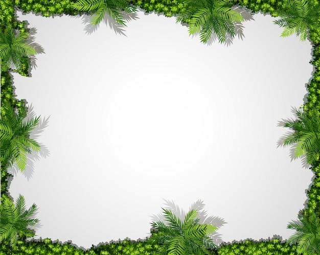 自然の緑の境界線の背景