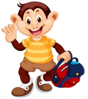 Милая обезьяна персонажа