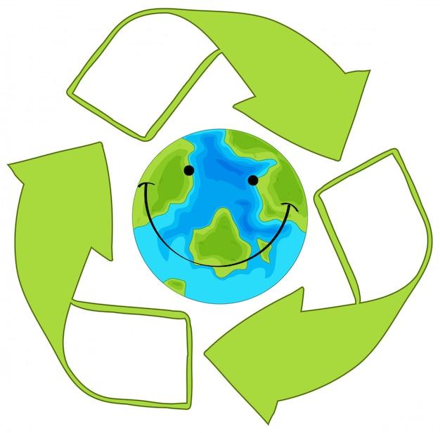 緑の地球をリサイクル