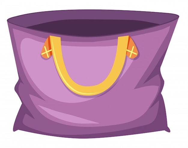 Большая фиолетовая большая сумка