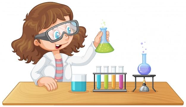 実験室の女の子の実験