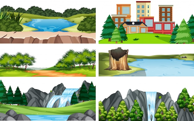 Набор природного ландшафта