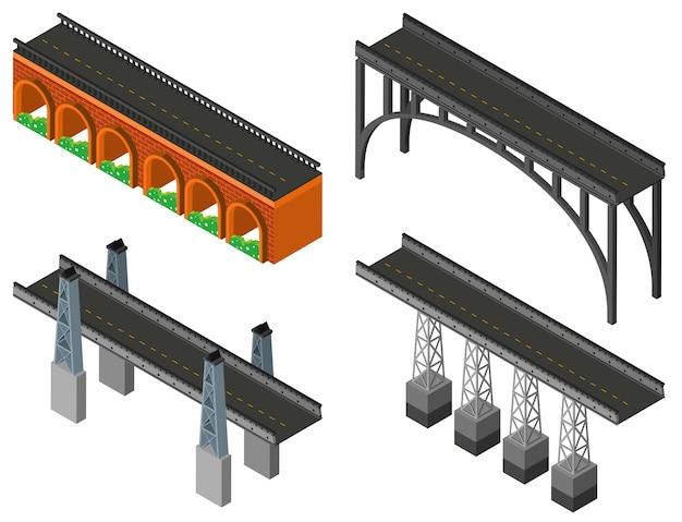 異なるデザインのブリッジ