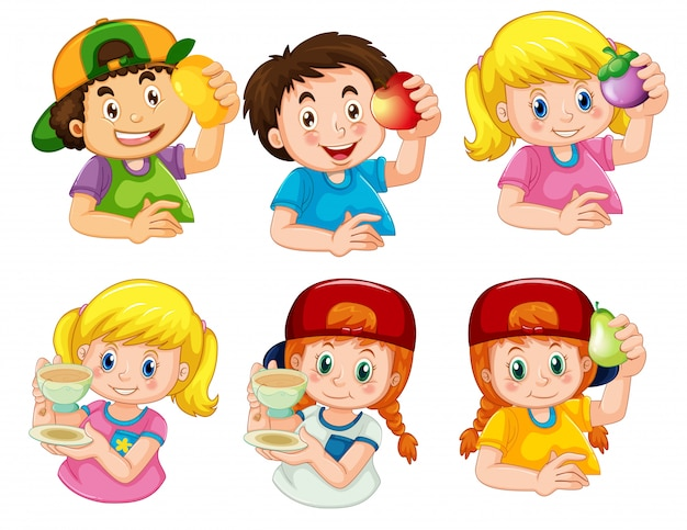 Набор мальчика и девочки персонажа
