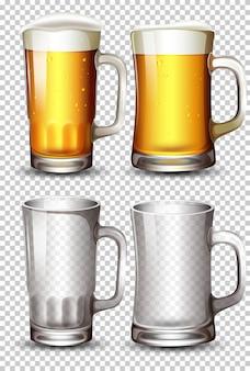 ビールグラスのセット