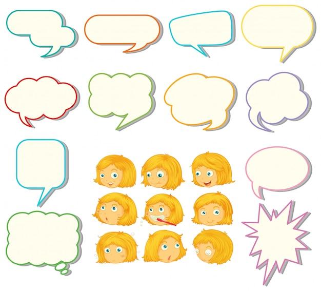 Набор речи шар и девушка выражение