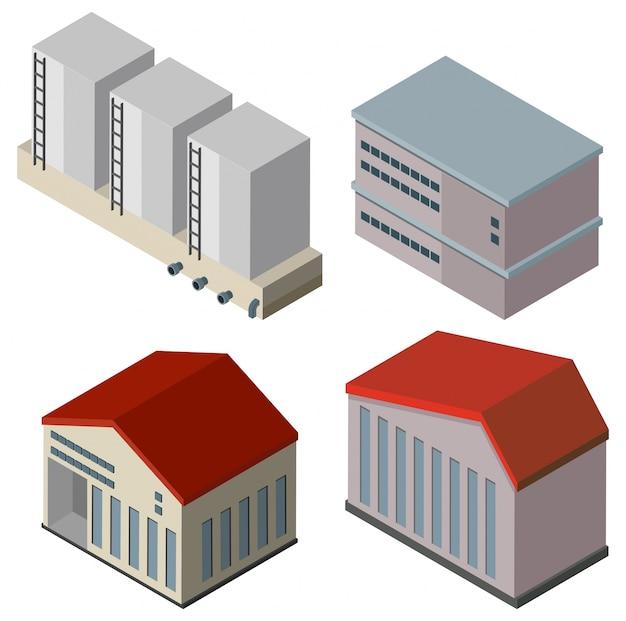 異なる建物の設計