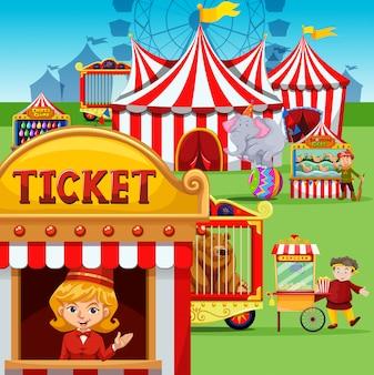 Билетная касса на карнавале