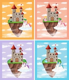 中世の城のセット