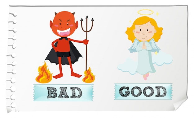 良いものと悪いものの逆の形容詞