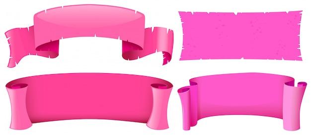 ピンクのバナーのテンプレート