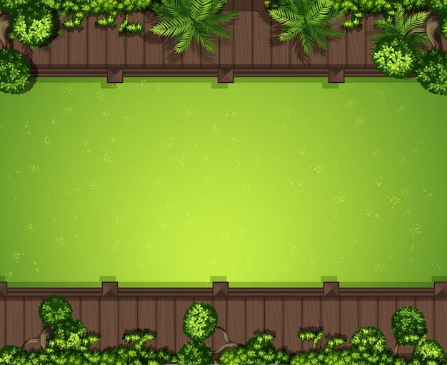 空中の緑の芝生の背景