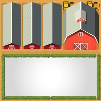 農村農場ボーダーテンプレート