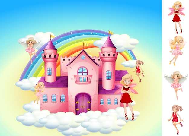 空の城の妖精のセット