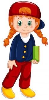 Девушка персонаж на белом