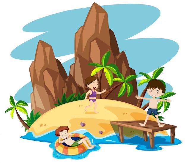 浜の子供たち