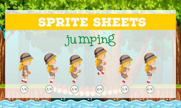 Спрайт простыни прыжки