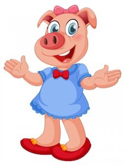 豚の女性キャラクター