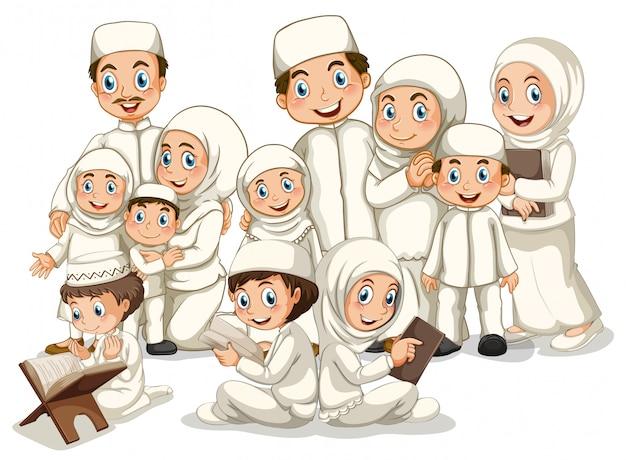 イスラム教徒の家族