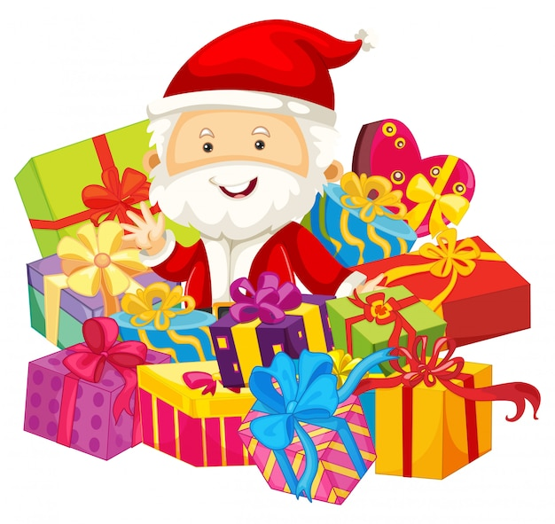 サンタとプレゼントのクリスマスのテーマ